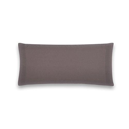 Sancarlos - Funda de almohada para cama, 100% Algodón percal, Color gris, Cama de 135 cm