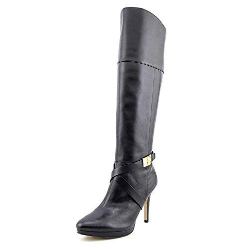 Marc Fisher Tracey 3 Spitz Leder Mode-Knie hoch Stiefel Black