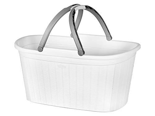 Stefanplast elegance cesta biancheria con maniglie, plastica, colori assortiti