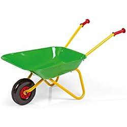 Rolly Toys 271900 Brouette en métal, couleur jaune/vert.
