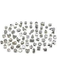 20 Glitzernde Tibetanische Silber-Charms für Charm-Armbänder Tibetanischer silberner Charme CHARMS Von BoolavardTM