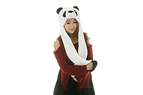 Colorfulworldstore 25 styles Cartoon Plush Animal Hats with Scarfs Mittens