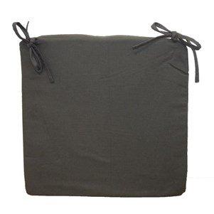 Galette de chaise carrée 40x40x4 cm Gris