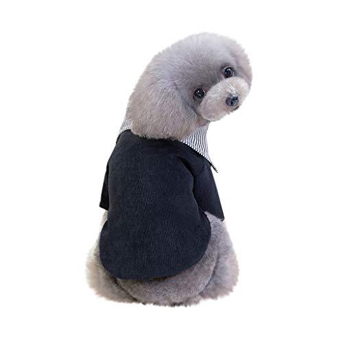 LOSVIP New Gentleman Pet Clothes Dog Suit Tie Wedding Formal Dress for Dogs Costume(rot,S) (Der Rote Wedding Dress Kostüm)