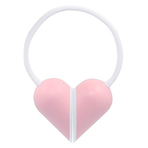 Eplze Créatif Amour Cœur Pliable LED Bureau Lampe Œil Qui Dimmable Toucher-Sensible Rechargeable Table Lampe - Rose Coquille Jaune lumière