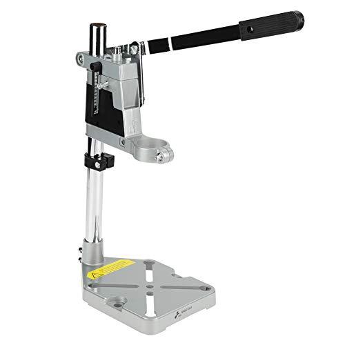 Akozon Bohrständer Electric Power Bohrmaschine Ständer Clamp Drill Press Stand Workbench Repair Tool for Drilling Aluminum Base Halter Work Station Verstellbare Halterung für Bohrmaschinen(1 Trou)