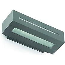 Faro Barcelona West 70888 - Aplique, 100W, aluminio inyectado y difusor cristal translúcido,