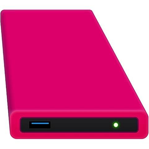 HipDisk RP 250GB SSD Externe Festplatte (6,4 cm (2,5 Zoll), USB 3.0) tragbare portable mit austauschbarer Silikon-Schutzhülle stoßfest wasserabweisend