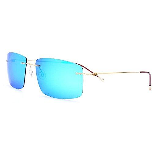 Ppy778 Aviator Sonnenbrillen für Herren Polarized , UV 400 in Schutzfarben (Color : Blue)