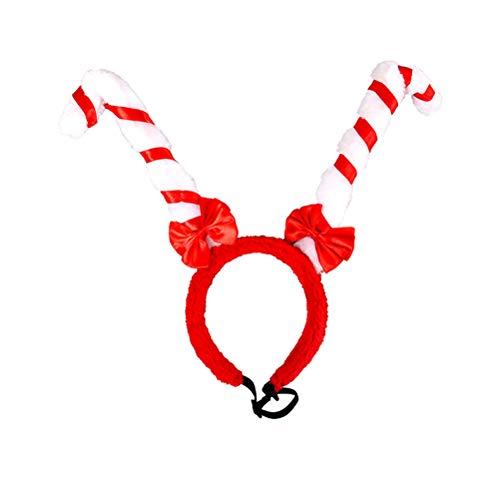 BESTOYARD Neuheit Weihnachten Haustier Stirnband Dog Hair Hoop Cute Xmas Stirnband mit Bowknot für Weihnachten Festival Party Decor