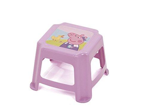 Arditex Sgabello per Bambini Antiscivolo sotto Licenza Peppa Pig Dimensioni: 27x 27x 21cm, Plastica, 27x 21x 27cm