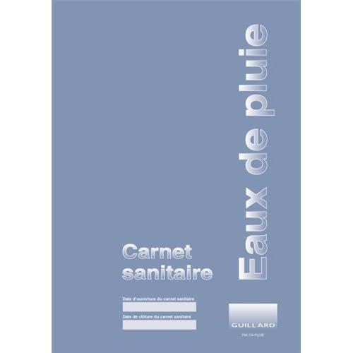 Carnet sanitaire des eaux de pluie de récupération