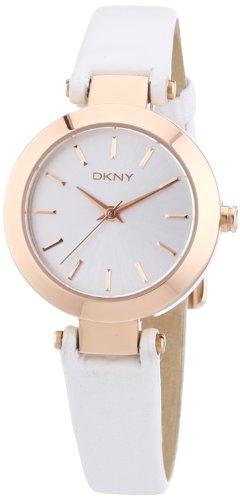 DKNY NY8835 - Reloj analógico de cuarzo para mujer, correa de cuero color blanco