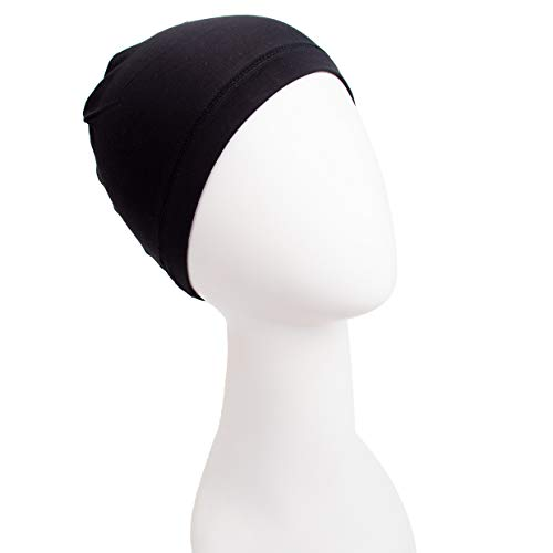 Bamboo Fiber Wig Hair Stock Liner Cap Stretch Mesh Net Wig extension Black