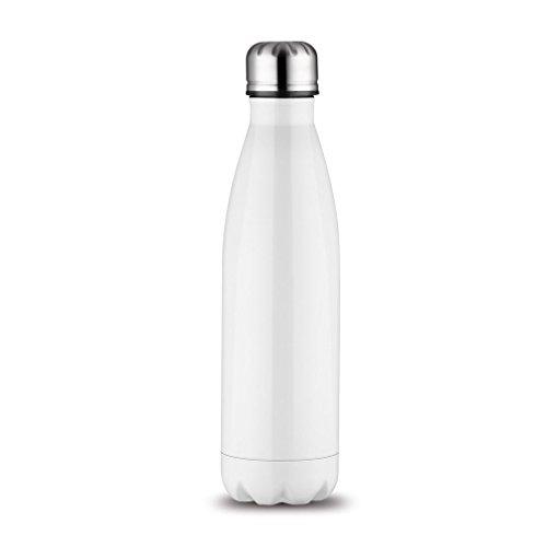 OUTAD Fitness Trinkflasche - Premium Aus Edelstahl Isolierflasche (Weiß)