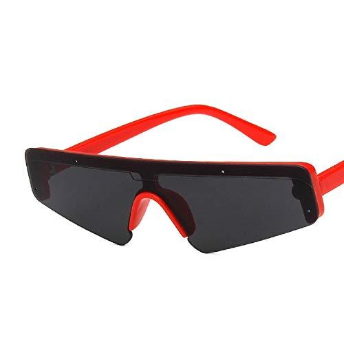 YUHANGH Punk Einteiliges Rechteck Sonnenbrille Frauen Klare Linse Retro Weißen Rahmen Randlose Sonnenbrille Eyewear