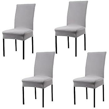 Hochwertig Cosyvie Set 4 Stk. Spandex Bezüge Decken Stuhl Ausziehbar Und Waschbar Für  Schutz Stuhl Esszimmer, Weiß Weiß