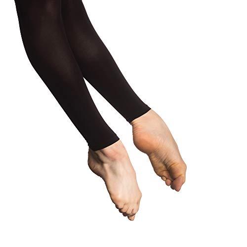 Basilica Dancewear sans Pieds Professionnel Ballet Collants de Danse 60den,  Noir, XL(Adult 4fcacc56c50e