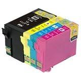 EPSON T27XL Réveil Pack de 4 Cartouches compatibles - Noir/Cyan/Magenta/Jaune