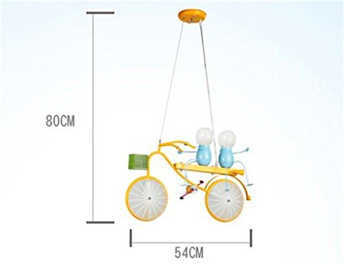 Persönlichkeit Fahrrad Kind Kronleuchter Schlafzimmer Jungen-Mädchen-Kinderzimmer-Licht moderne einfache Cartoon Kreative - 2