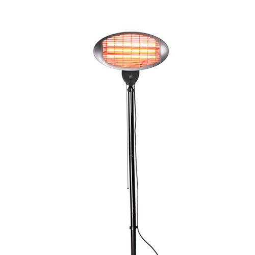 Firefly 2KW Water Resistant Infrared Electric Garden Outdoor Indoor Patio Heater - 3 Power Settings (Black Patio Heater for a Parasol Base)
