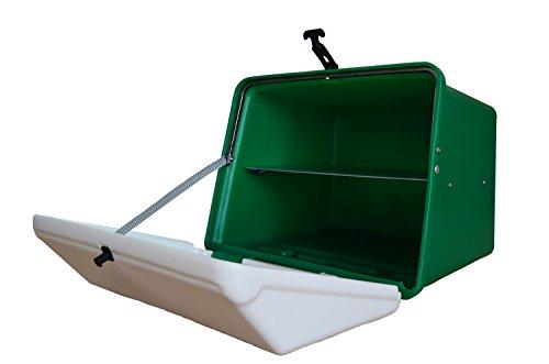 Portaequipajes Moto baúl Reparto Verde-Blanco con Bandeja y Reflectantes homologados