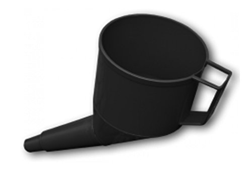 ANGLED FUEL FUNNEL THAT DOES NOT NEED TWO PEOPLE TO USE!FINE MESH FILTER,HANDLE,SOLID BUILD,FREE DELIVERY IN BLACK