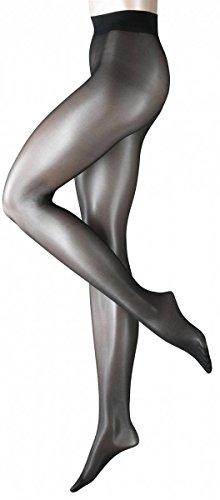 Schwarz Seidenglatt 15Denier Strumpfhose transparent brillante von Falke, Schwarz - schwarz - Größe: Piccolo/Medio