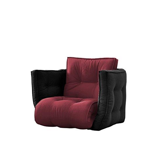 Karup Kommune Sagt Futon Chair Stuhl, Baumwolle/Polyester, Schwarz 717, 80x 80x 60cm