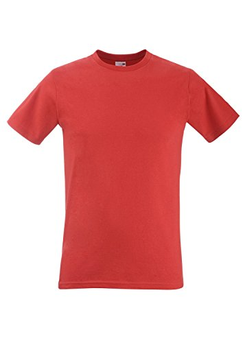 F213 Fitted Valueweight T Red