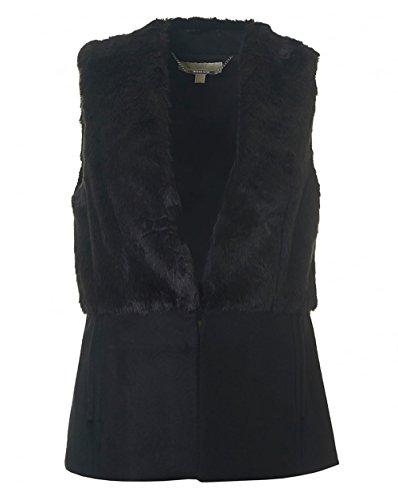 Nuova collezione Cappotti Donna MICHAEL KORS pre smanicato, chiusura con gancetto a scomparsa, parte superiore in pelliccia, due tasche frontali