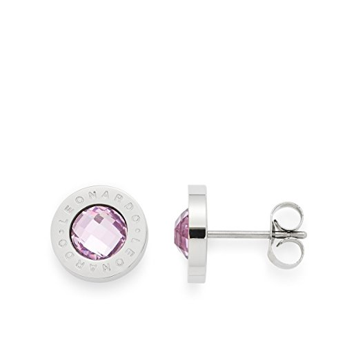 Leonardo Jewels Damen Ohrstecker Matrix light pink Edelstahl Glas   015781