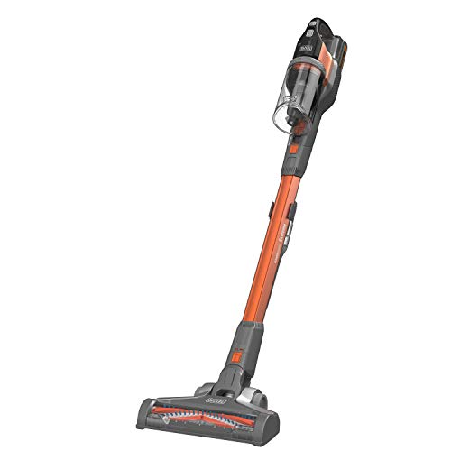 Black & Decker BHFEV182C-QW, Aspirateur Balai Powerseries sans fil-18 V-Autonomie Min-Base de Charge-Embout suceur Plat, Orange, 40 W, 650 milliliters