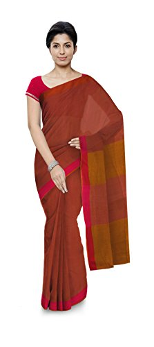 Aakarshan Weaves Women's Khadi Cottonit pure Cotton Hand Woven Saree with tussels...
