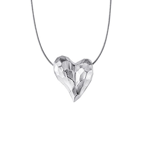 Drachenfels edler Herzanhänger aus der Kollektion Heartbreaker in Echtsilber I Anhänger Silber 925 Sterling I Eleganter Anhänger für Damen in Herzform