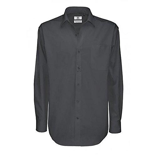 B&C - Sharp - Camicia Classica in Cotone Twill - Uomo Rosso scuro