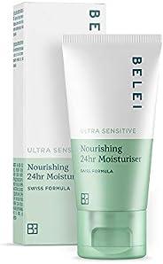 Amazon-Marke: Belei – Ultra sensible, pflegende feuchtigkeitsspendende 24-h-Creme, 50 ml