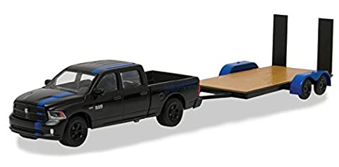 2015 Dodge Ram Pickup Truck Mopar Edition & Flatbed Trailer Hitch & Tow Series 7 1/64 by Greenlight 32070 C by