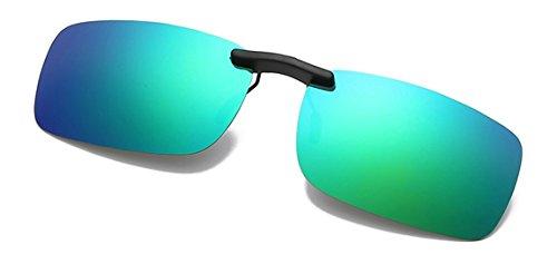 Flydo Polarisierte Sonnenbrille Clip für Brillenträger-Stil Sonnenbrille für Myopie Brille im Freien/Fahren/Angeln-Anti-UV