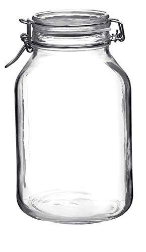 Bormioli Rocco Bügelverschlussglas Fido mit Glasdeckel - Füllmenge: 3 Liter - 1 Stück - 3 Große Gläser