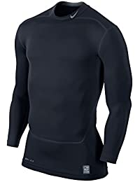 Nike Pro Combat Core 2.0 Maillot de compression à manches longues Homme Gym Red/Cool Grey/Cool