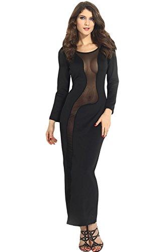 E-Girl femme Noir SY6374 Tenue De Soiree Noir