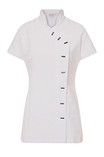 Spa-uniformen (Proluxe Essentials Tunika, Arbeitskleidung für Friseursalon, Spa, Massage, Therapeutinnen, Gesundheitsberufe oder Nagelstudios–in 7Farben erhältlich Gr. 38, weiß)