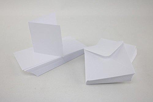Crafts UK 50Karten und Briefumschläge, 12,7x 12,7cm, Weiß