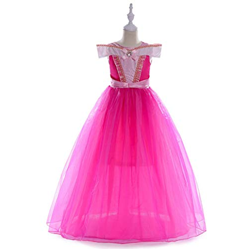 ZYLL Weibliche Kinder ' S Prinzessin Dress Prinzessin Dress Up Halloween-Kostüm Dress Pink,120CM (Kids Kostüm Belle Halloween Für)