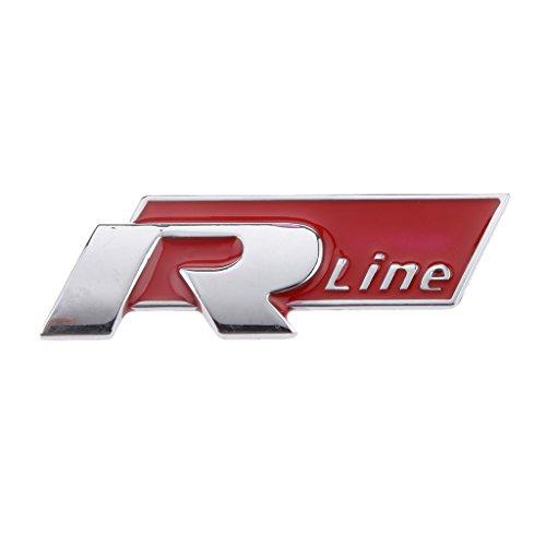Rosso R Linea Di Metallo Auto Adesivo Auto Boby Distintivo per Emblema VW Cc Gti (Emblema Del Metallo)