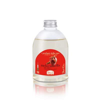 Helan - profumi casa mela cannella - ricarica bastoncini 250 ml [1 confezione] efficace | naturale | benessere quotidiano - [kit con integratore tonico-adattogeno in omaggio]