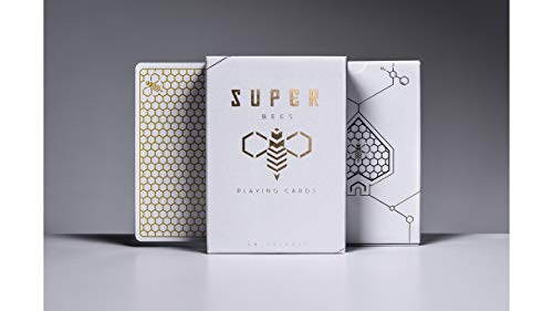 Ellusionist Kartenspiel Spielkarten Poker Karten Super Bees Rare Playing Cards White Gold Limited Poker Deck