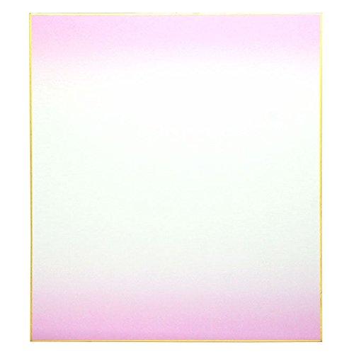 Japanische 24,1x 26,7cm Blackwall Bokashi violett Shikishi mit Gold eingefasst Art Papier Board