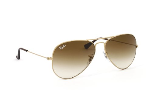 RAY BAN AVIATOR Sonnenbrille/Sunglasses - Gelb/Braun RB3025 001/51 (58mm)